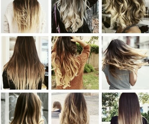 hair, ombre, and blonde image