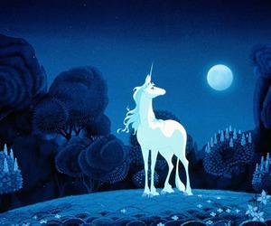 unicorn, blue, and the last unicorn image