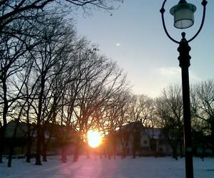 sunset, winter, and szeged image