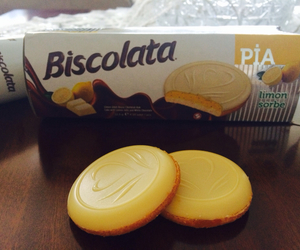lemon, white chocolate, and biscolata image