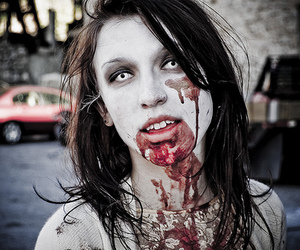 zombie and blood image