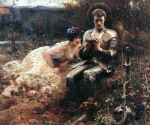 Arthur Hacker and painting image