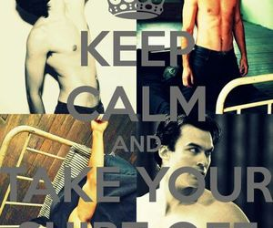 ian somerhalder, keep calm, and the vampire diaries image