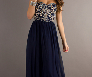 dress, long, and Prom image