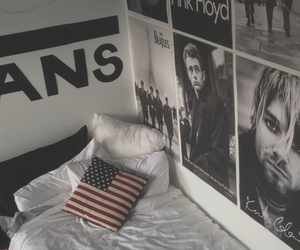 vans, room, and Pink Floyd image