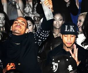 chris brown, tyga, and black image