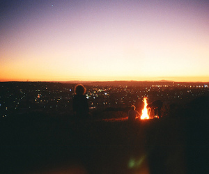 light, city, and fire image