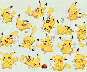 kawaii, pikachu, and pokemons image