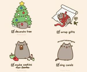 christmas, to do list, and pusheen image