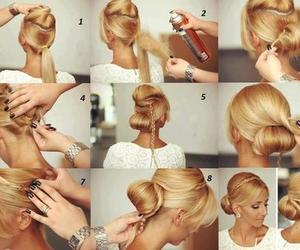 blond, hairstyle, and hair image