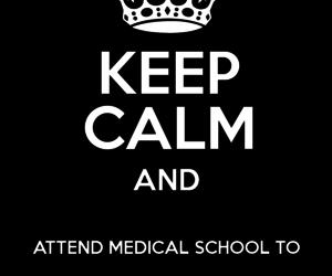 keep calm, medical, and medicine image