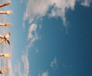 sky, hands, and summer image