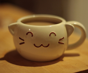 cute, cat, and cup image