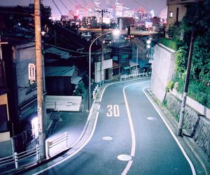 night, street, and city image