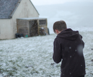 boy, snow, and cold image