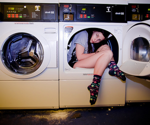 fun, girl, and laundry image