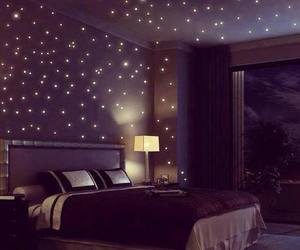 bedroom, stars, and room image