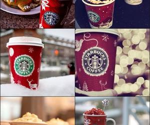 christmas and starbucks image