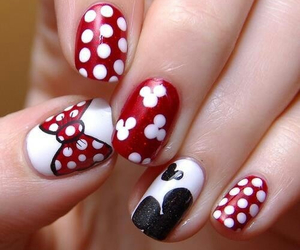nails, red, and disney image