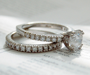 ring, rings, and diamond image