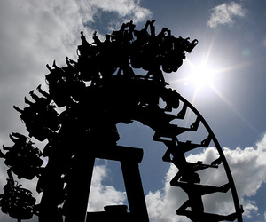 Roller Coaster and sky image