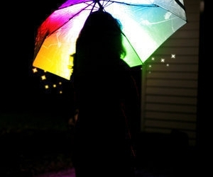 umbrella, girl, and colors image