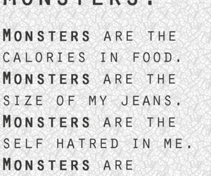 monster, quote, and calories image