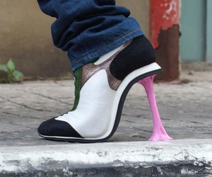 shoes, heels, and gum image