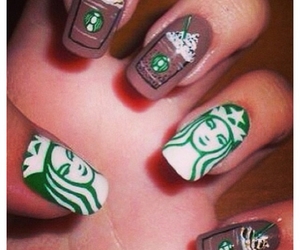 brown, green, and frappuccino image