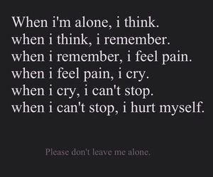 alone, cry, and hurt image