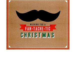christmas, greeting, and mustache image