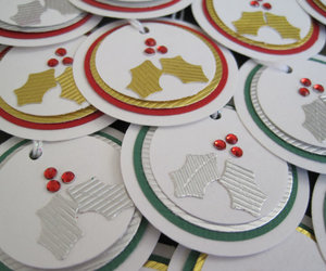 christmas, gift tags, and handmade image