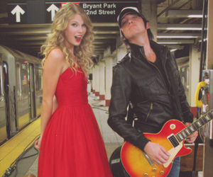Taylor Swift, guitar, and red image
