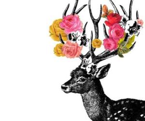 antlers, deer, and tattoo idea image