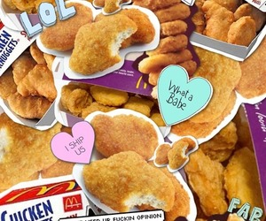 nuggets, background, and food image