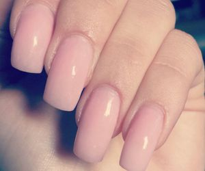 nails, pink, and love image