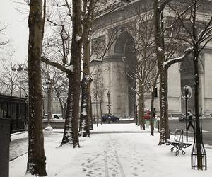 snow, winter, and paris image