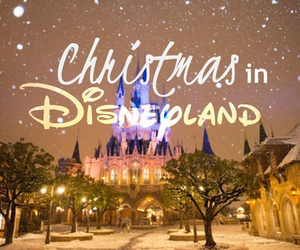christmas, disneyland, and disney image
