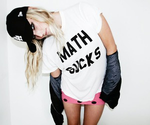 girl, math, and math sucks image