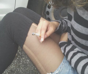 ciggarettes, pale, and girl image