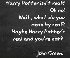 harry potter, john green, and quote image
