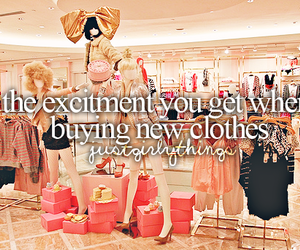 clothes, shopping, and girly image