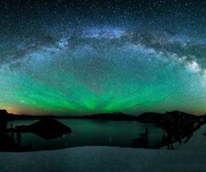 stars, sky, and aurora image