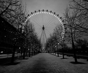 london, black and white, and photography image