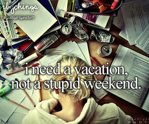 vacation, weekend, and school image