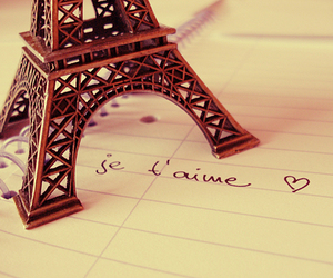paris, love, and je t'aime image