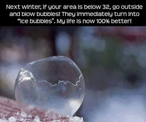 bubbles, winter, and ice image