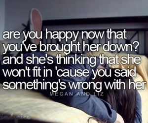 Lyrics, megan and liz, and are you happy now image