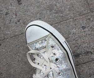 converse, sneaker, and silver image