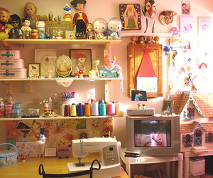 craft room, diy, and dollhouse image